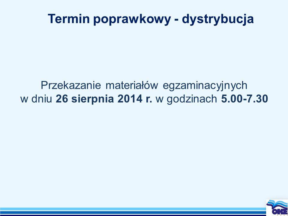 Przekazanie materiałów egzaminacyjnych w dniu 26 sierpnia 2014 r.