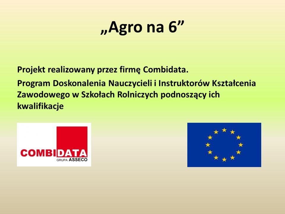 """""""Agro na 6 Projekt realizowany przez firmę Combidata."""