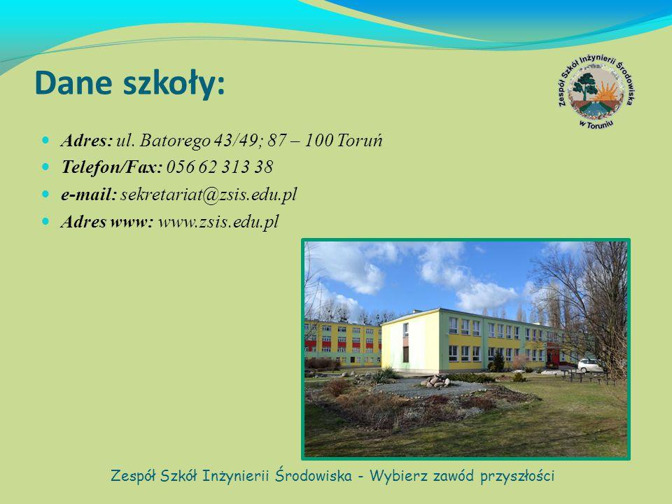 Rys historyczny: Po II wojnie światowej z inicjatywy Ministerstwa Rolnictwa, rozpoczęło w Toruniu działalność Liceum Ogrodnicze.