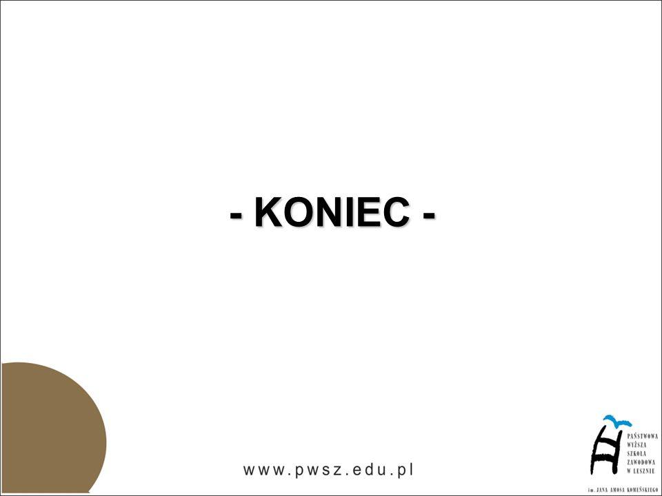 - KONIEC -