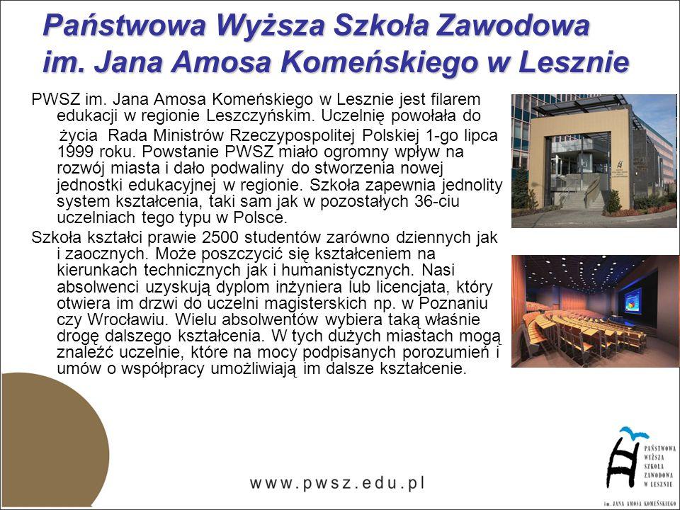 PWSZ im. Jana Amosa Komeńskiego w Lesznie jest filarem edukacji w regionie Leszczyńskim.