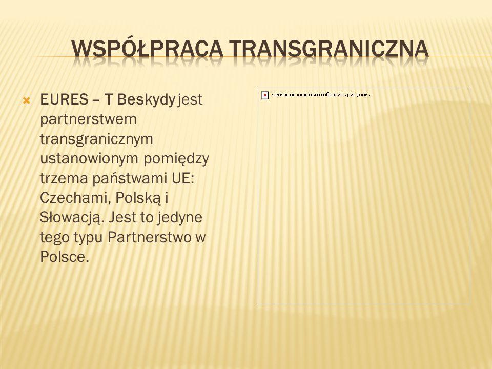  EURES – T Beskydy jest partnerstwem transgranicznym ustanowionym pomiędzy trzema państwami UE: Czechami, Polską i Słowacją. Jest to jedyne tego typu