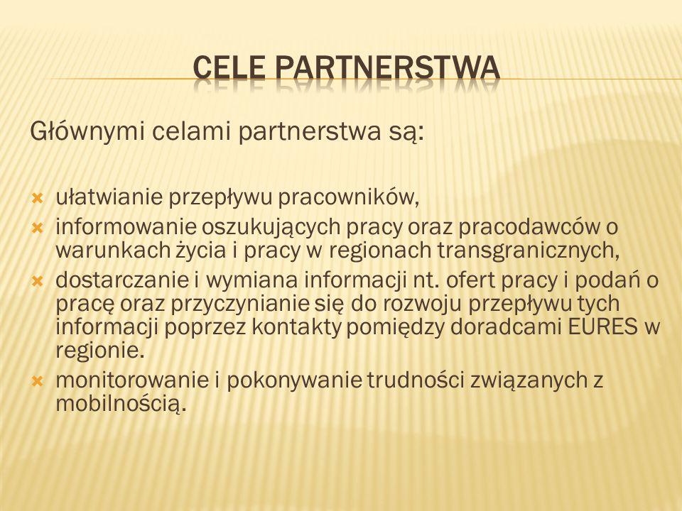 Głównymi celami partnerstwa są:  ułatwianie przepływu pracowników,  informowanie oszukujących pracy oraz pracodawców o warunkach życia i pracy w reg
