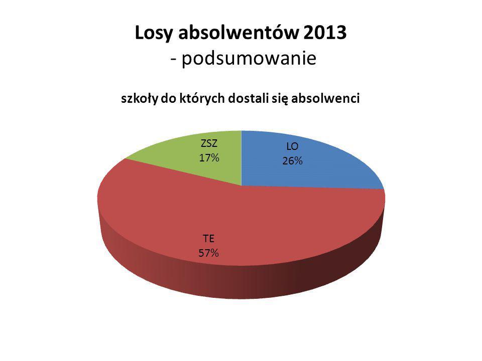 Losy absolwentów 2013 - podsumowanie