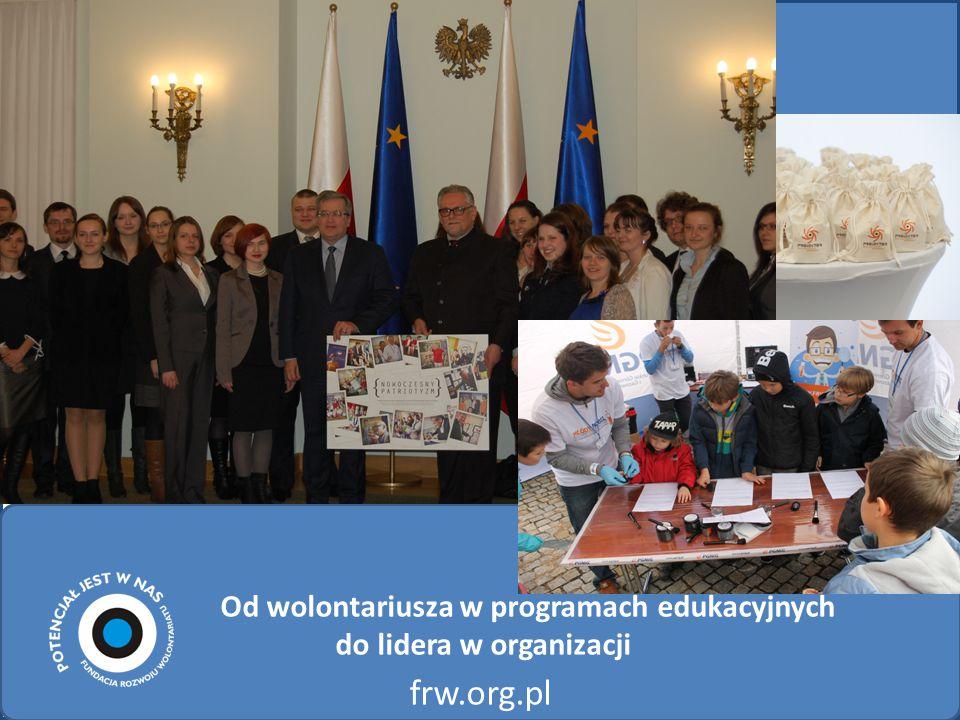 Od wolontariusza w programach edukacyjnych do lidera w organizacji frw.org.pl