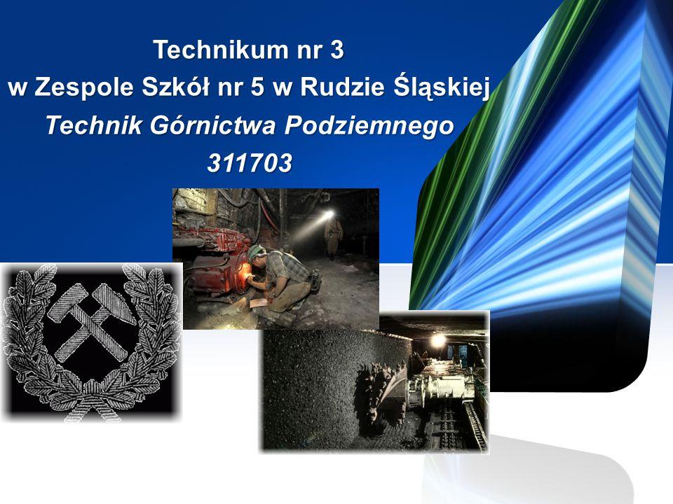 Technikum nr 3 w Zespole Szkół nr 5 w Rudzie Śląskiej Technik Górnictwa Podziemnego 311703