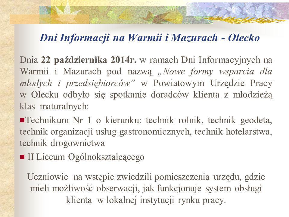 Dni Informacji na Warmii i Mazurach - Olecko Dnia 22 października 2014r.