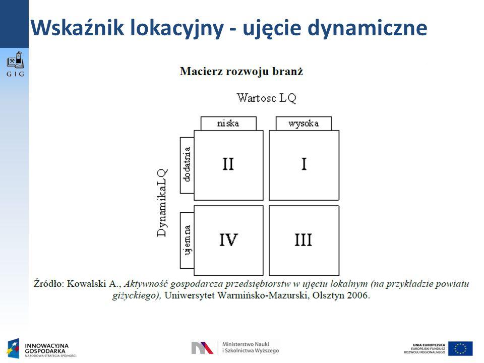 Wskaźnik lokacyjny - ujęcie dynamiczne