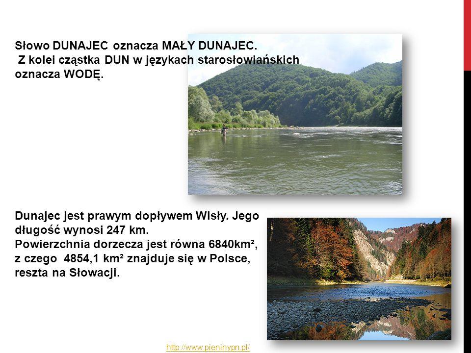Dunajec jest prawym dopływem Wisły. Jego długość wynosi 247 km. Powierzchnia dorzecza jest równa 6840km², z czego 4854,1 km² znajduje się w Polsce, re