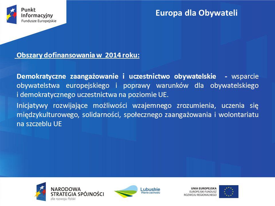 Demokratyczne zaangażowanie i uczestnictwo obywatelskie - wsparcie obywatelstwa europejskiego i poprawy warunków dla obywatelskiego i demokratycznego uczestnictwa na poziomie UE.