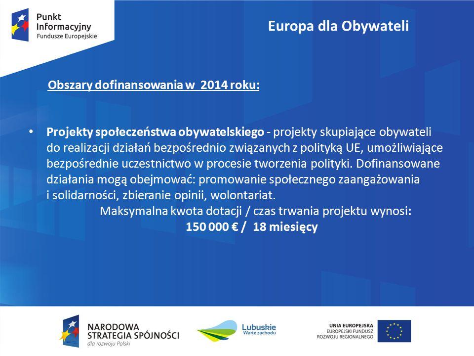 """Punkt Kontaktowy """"Europa dla Obywateli w Polsce Al."""