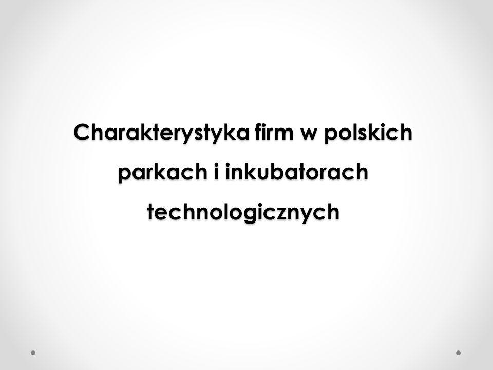Charakterystyka firm w polskich parkach i inkubatorach technologicznych