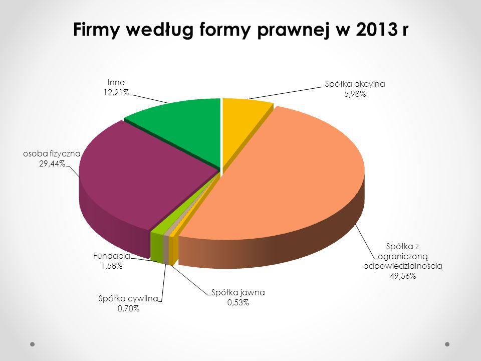 Firmy według formy prawnej w 2013 r