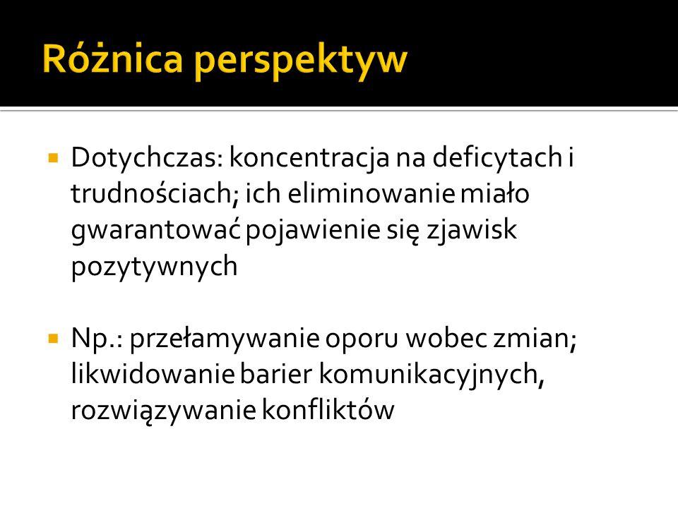 Magdalena Kalińska Uniwersytet Mikołaja Kopernika  Dotychczas: koncentracja na deficytach i trudnościach; ich eliminowanie miało gwarantować pojawien