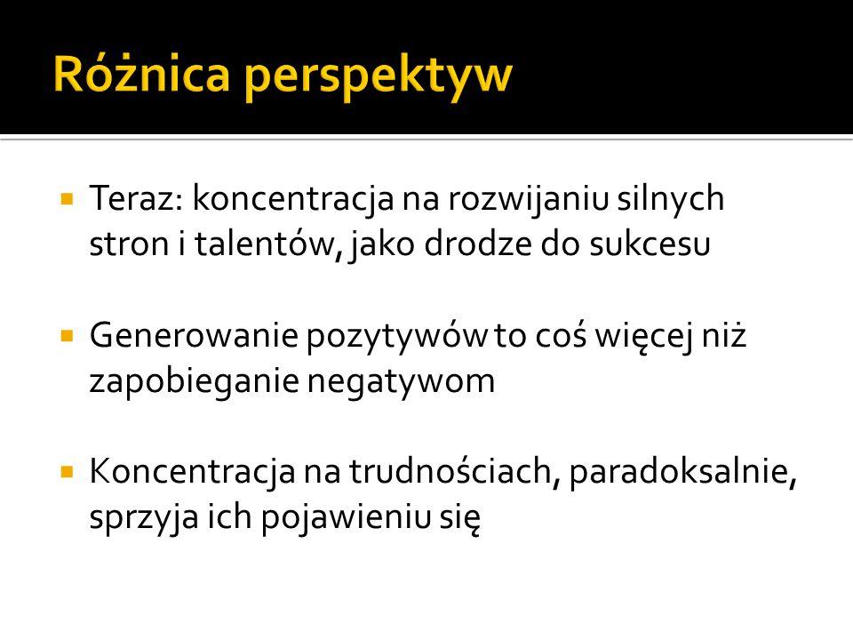 Magdalena Kalińska Uniwersytet Mikołaja Kopernika  Teraz: koncentracja na rozwijaniu silnych stron i talentów, jako drodze do sukcesu  Generowanie p