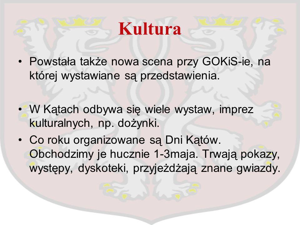 Kultura Powstała także nowa scena przy GOKiS-ie, na której wystawiane są przedstawienia. W Kątach odbywa się wiele wystaw, imprez kulturalnych, np. do