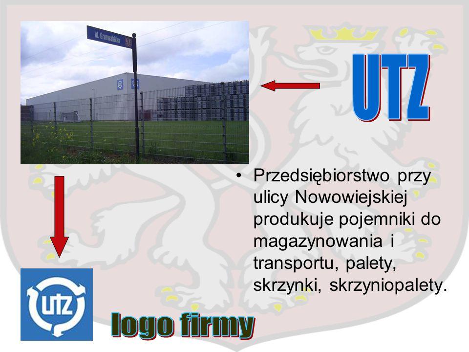 Przedsiębiorstwo przy ulicy Nowowiejskiej produkuje pojemniki do magazynowania i transportu, palety, skrzynki, skrzyniopalety.