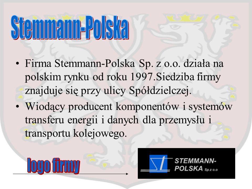 Firma Stemmann-Polska Sp. z o.o. działa na polskim rynku od roku 1997.Siedziba firmy znajduje się przy ulicy Spółdzielczej. Wiodący producent komponen