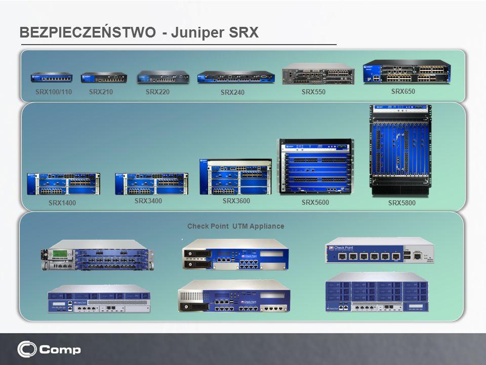 BEZPIECZEŃSTWO - Juniper SRX SRX210 SRX240 SRX650 SRX100/110 SRX220SRX550 SRX1400 SRX3400SRX3600 SRX5600 SRX5800 Check Point UTM Appliance