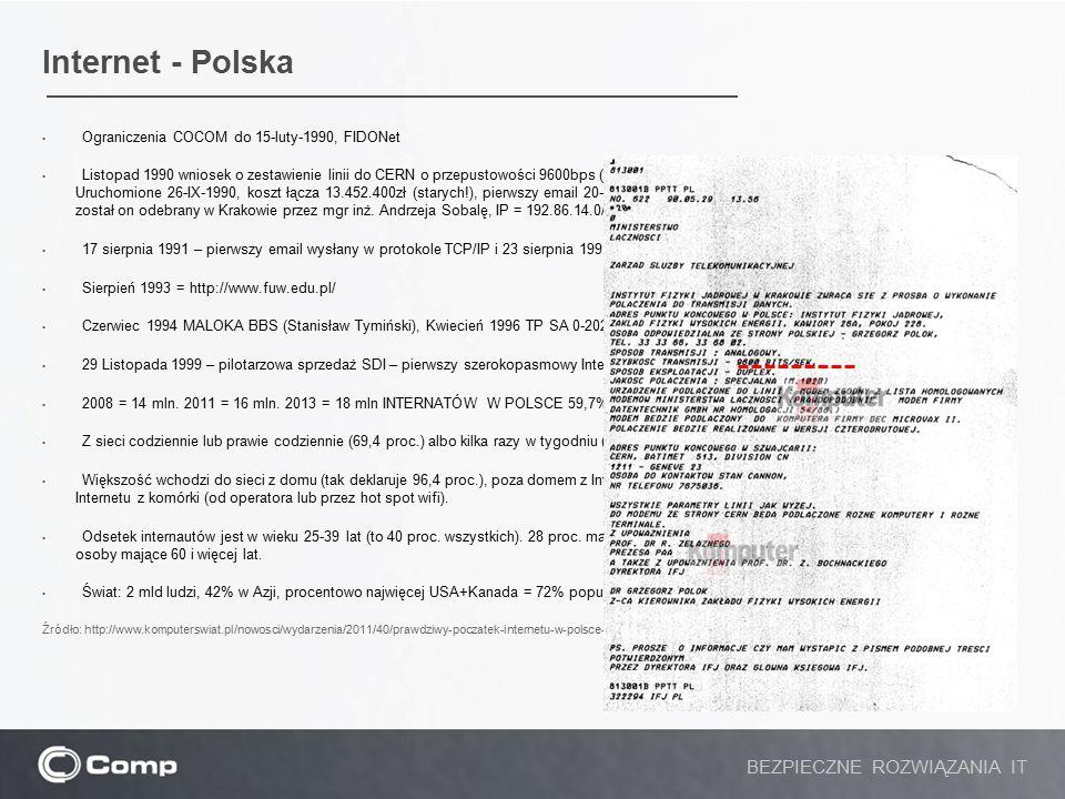 Internet - Polska Ograniczenia COCOM do 15-luty-1990, FIDONet Listopad 1990 wniosek o zestawienie linii do CERN o przepustowości 9600bps (stwierdzenie