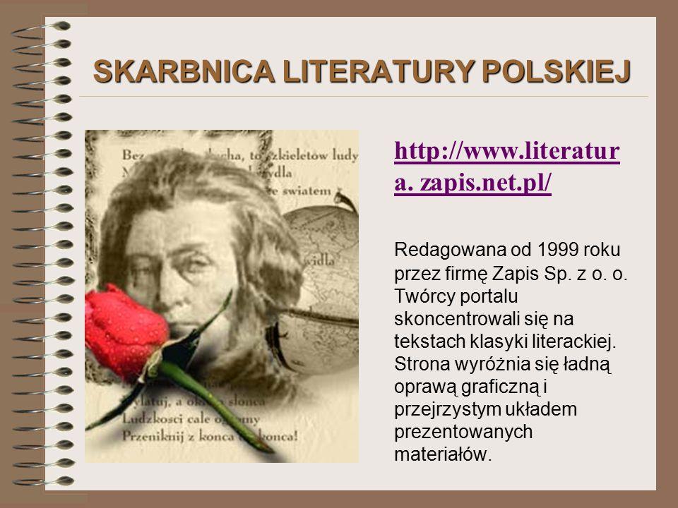SKARBNICA LITERATURY POLSKIEJ http://www.literatur a.