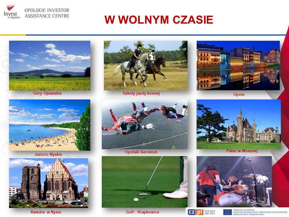 W WOLNYM CZASIE Golf - Krapkowice Jezioro Nyskie Opole Góry Opawskie Opolski Aeroklub Szkoły jazdy konnej Pałac w Mosznej Katedra w Nysie October Drum