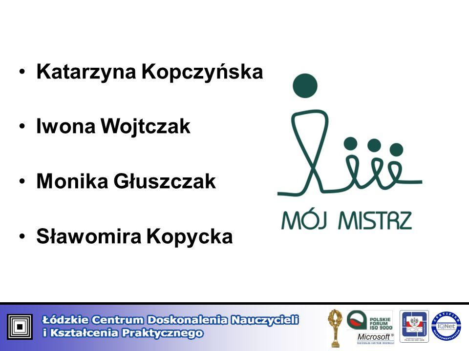 Katarzyna Kopczyńska Iwona Wojtczak Monika Głuszczak Sławomira Kopycka