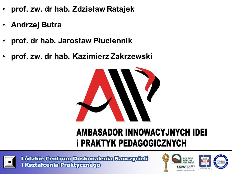 prof. zw. dr hab. Zdzisław Ratajek Andrzej Butra prof. dr hab. Jarosław Płuciennik prof. zw. dr hab. Kazimierz Zakrzewski