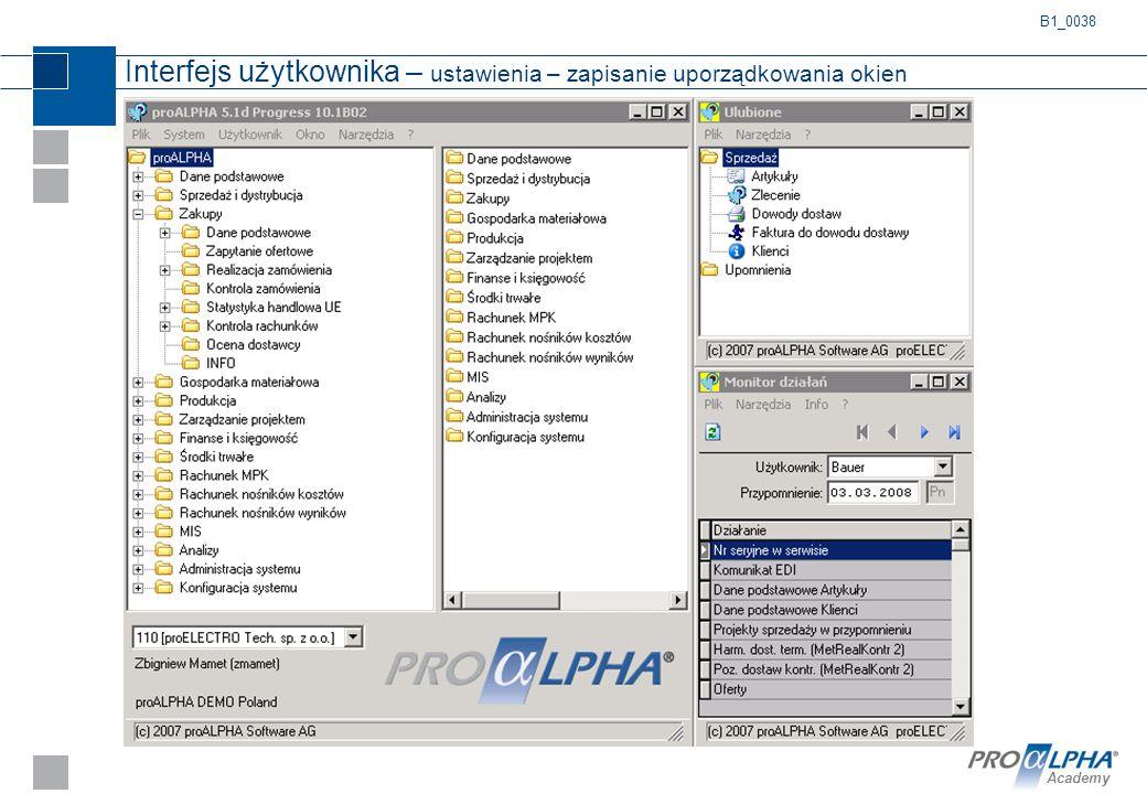 Academy Interfejs użytkownika – ustawienia – zapisanie uporządkowania okien B1_0038