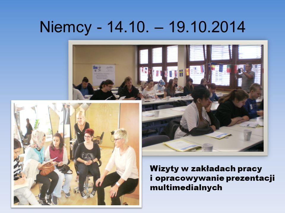 Niemcy - 14.10. – 19.10.2014 Wizyty w zakładach pracy i opracowywanie prezentacji multimedialnych