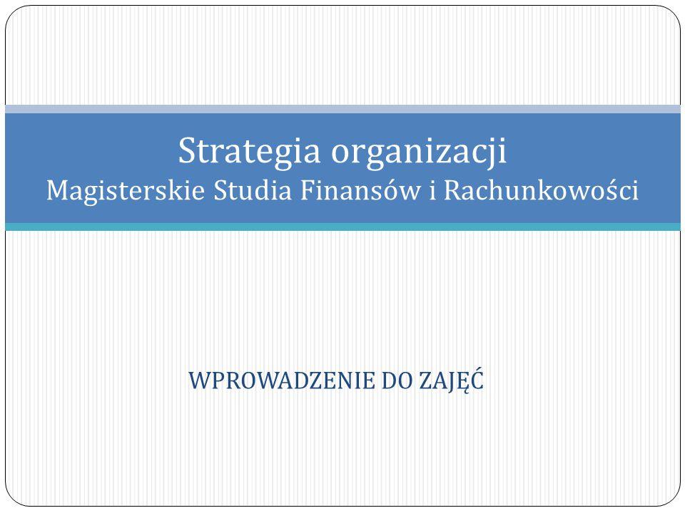 Sprawy organizacyjne Wykorzystano materiały przygotowane przez Dr Aleksandrę Wąsowską, Zakład Zarządzania Strategicznego UW 2 Cele zajęć: Poznanie podstawowych metod analitycznych wykorzystywanych w zarządzaniu strategicznym (5 sił Portera, łańcuch wartości, analiza SWOT, metody portfelowe), Wykorzystanie poznanych narzędzi analitycznych w dyskusji nad przykładowymi wyborami strategicznymi podejmowanymi w organizacjach, Zidentyfikowanie podstawowych związków między finansami i strategią firmy.