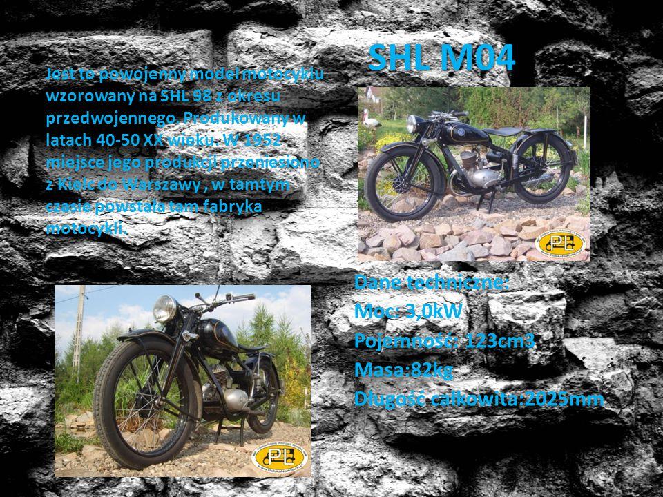 SHL M04 Jest to powojenny model motocyklu wzorowany na SHL 98 z okresu przedwojennego. Produkowany w latach 40-50 XX wieku. W 1952 miejsce jego produk