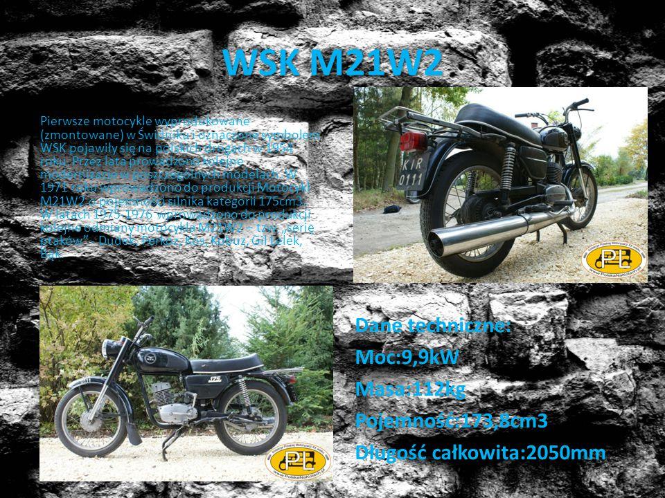 WSK M21W2 Pierwsze motocykle wyprodukowane (zmontowane) w Świdniku i oznaczone symbolem WSK pojawiły się na polskich drogach w 1954 roku. Przez lata p