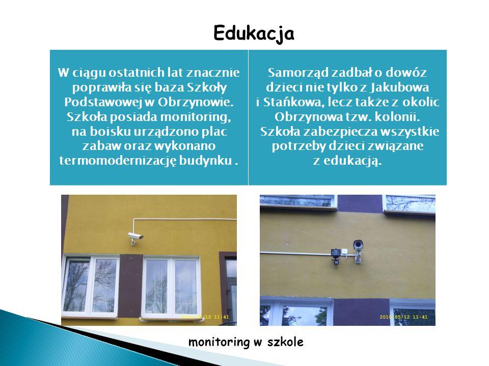 Edukacja W ciągu ostatnich lat znacznie poprawiła się baza Szkoły Podstawowej w Obrzynowie.