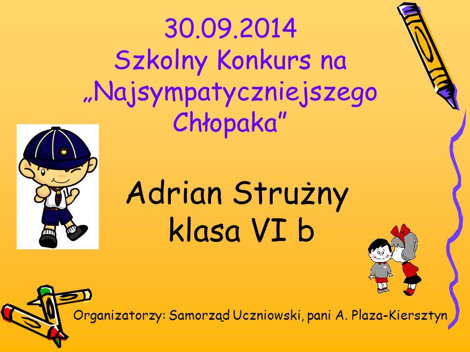 Grudzień 2014 Rybnicki Konkurs Matematyczny- RYKOMAT 2 miejsce: Wiktor Belkhayat 6 b Opiekun: pani K.
