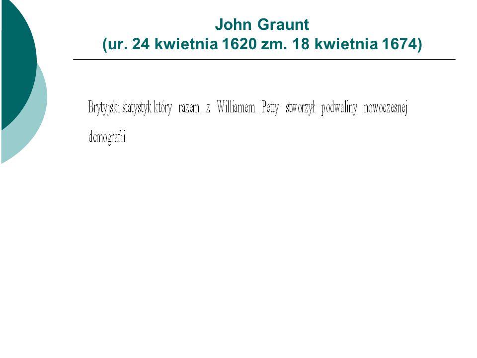 John Graunt (ur. 24 kwietnia 1620 zm. 18 kwietnia 1674)