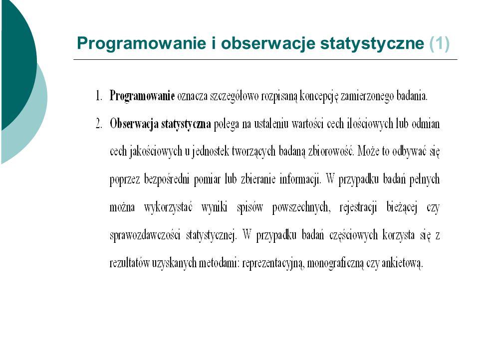 Programowanie i obserwacje statystyczne (1)