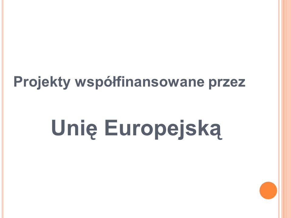 Projekty współfinansowane przez Unię Europejską