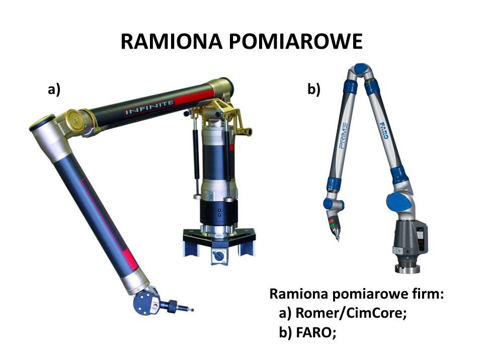 Ramiona pomiarowe firm: a) Romer/CimCore; b) FARO; a)b) RAMIONA POMIAROWE