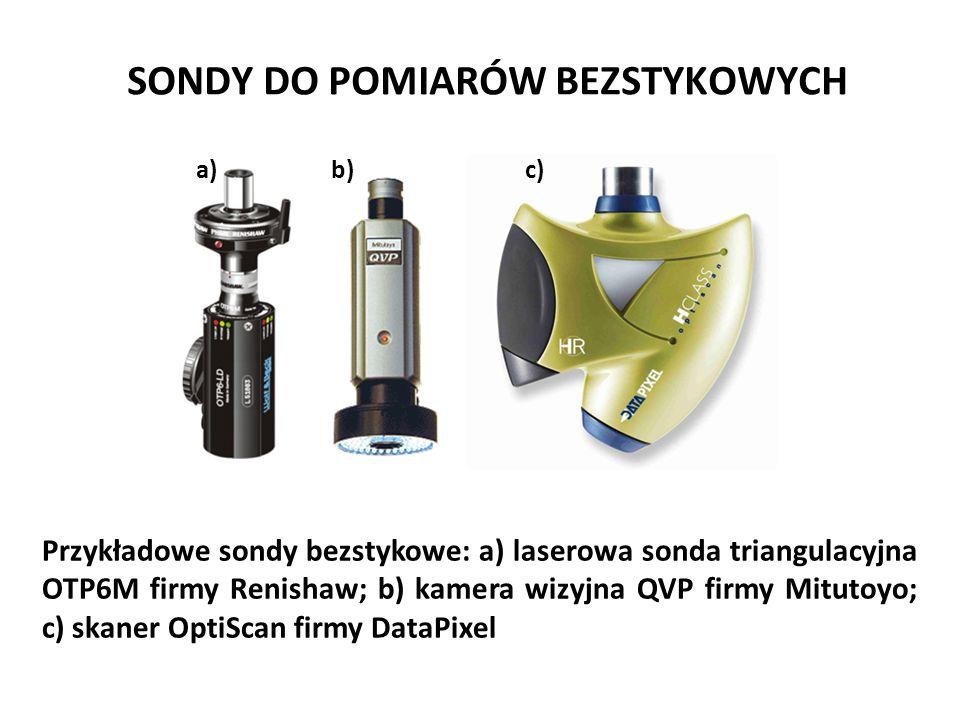 SONDY DO POMIARÓW BEZSTYKOWYCH Przykładowe sondy bezstykowe: a) laserowa sonda triangulacyjna OTP6M firmy Renishaw; b) kamera wizyjna QVP firmy Mituto