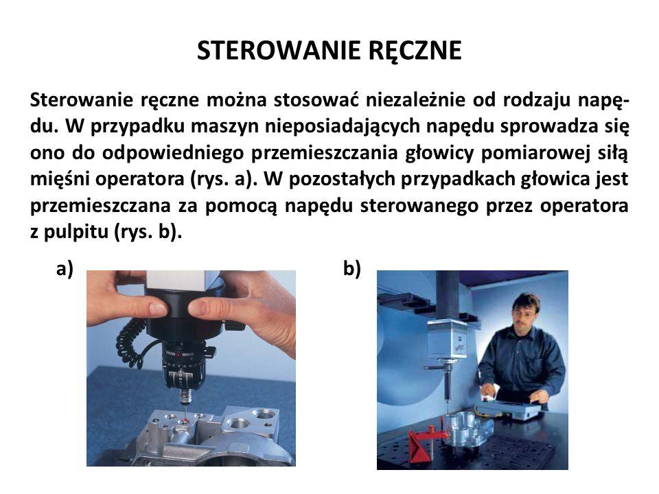 STEROWANIE RĘCZNE Sterowanie ręczne można stosować niezależnie od rodzaju napę- du. W przypadku maszyn nieposiadających napędu sprowadza się ono do od