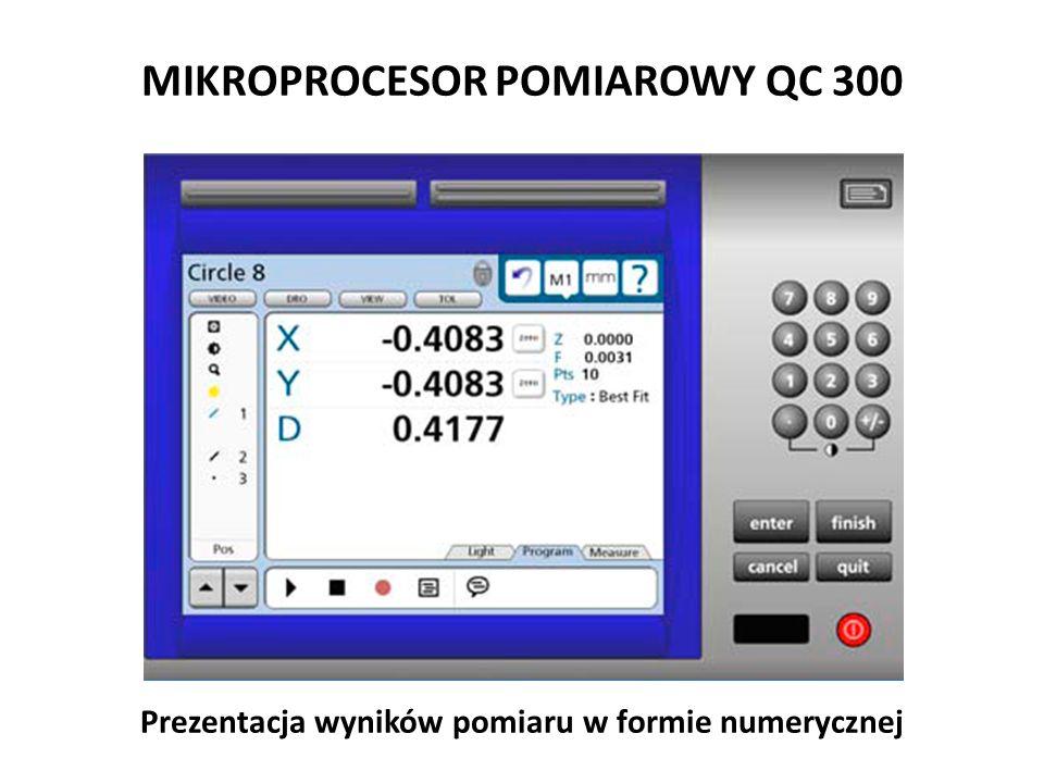 MIKROPROCESOR POMIAROWY QC 300 Prezentacja wyników pomiaru w formie numerycznej