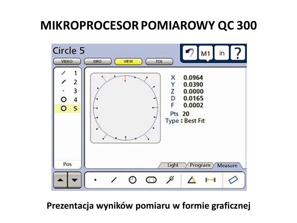 MIKROPROCESOR POMIAROWY QC 300 Prezentacja wyników pomiaru w formie graficznej