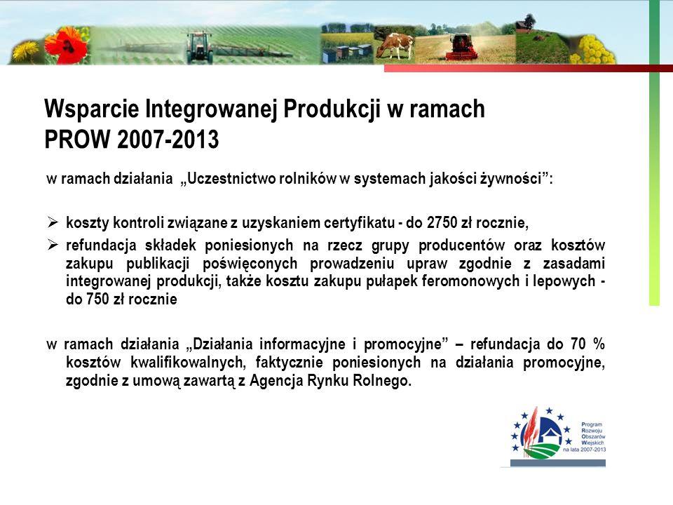 """Państwowa Inspekcja Ochrony Roślin i Nasiennictwa Wsparcie Integrowanej Produkcji w ramach PROW 2007-2013 w ramach działania """"Uczestnictwo rolników w"""