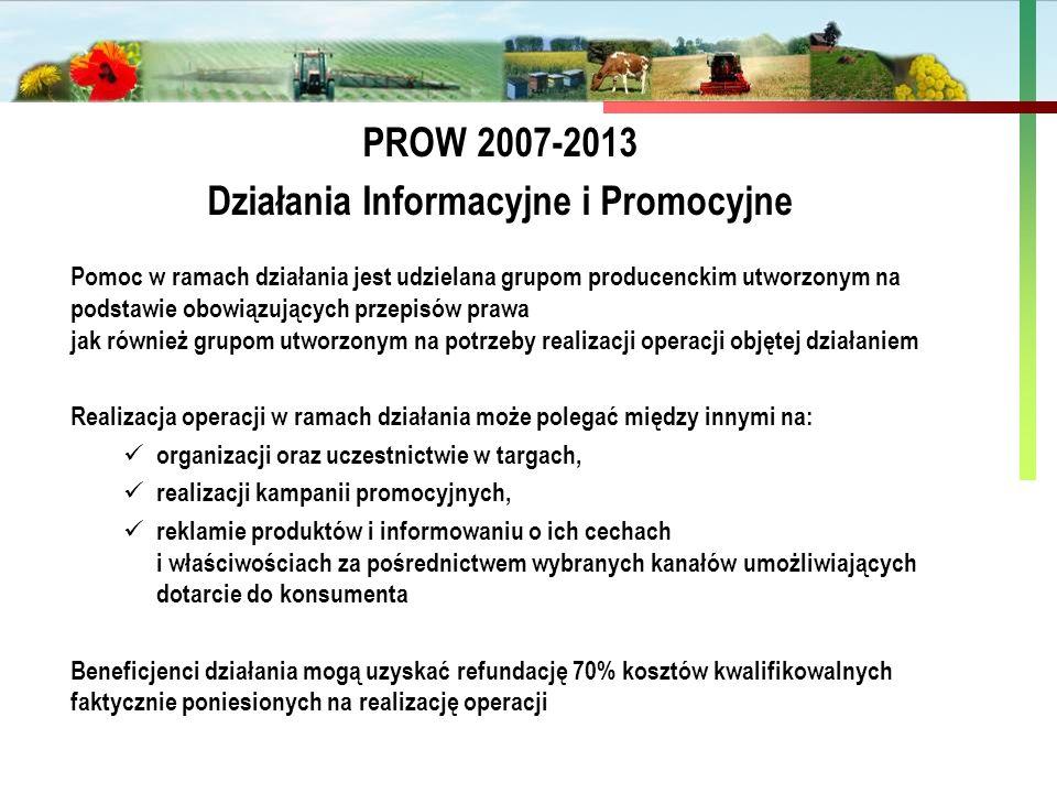 Państwowa Inspekcja Ochrony Roślin i Nasiennictwa Pomoc w ramach działania jest udzielana grupom producenckim utworzonym na podstawie obowiązujących p