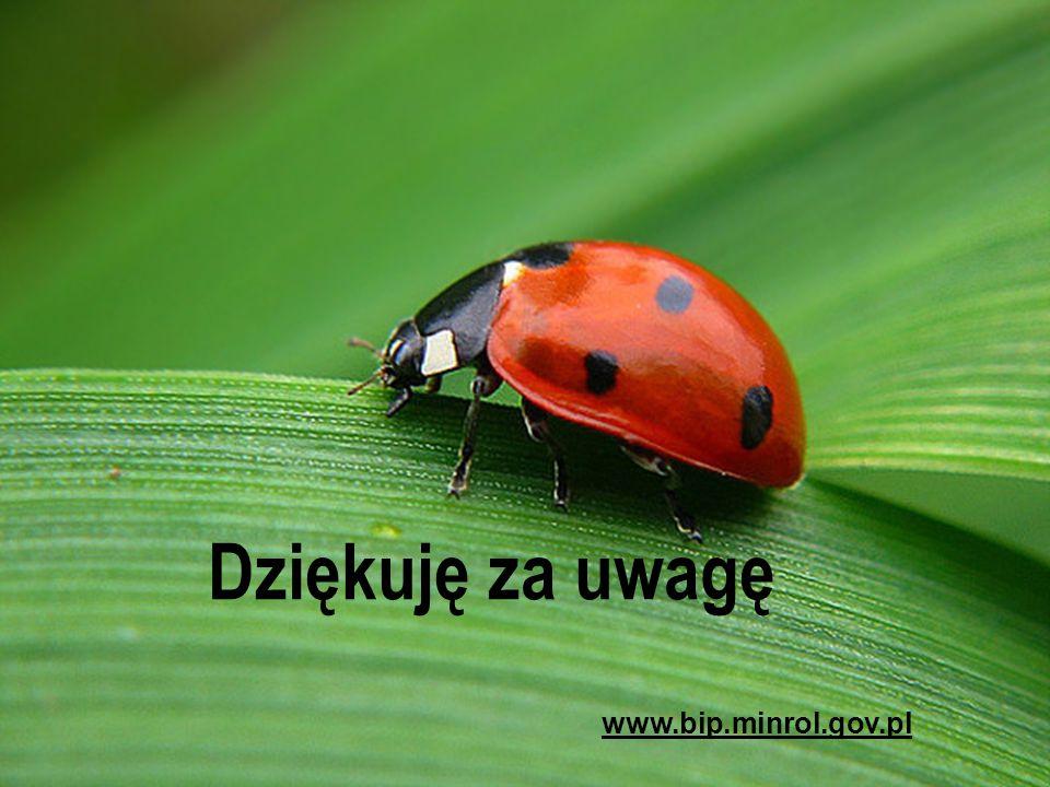 Państwowa Inspekcja Ochrony Roślin i Nasiennictwa Dziękuję za uwagę www.bip.minrol.gov.pl