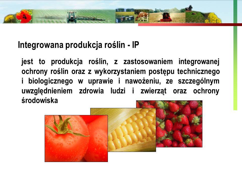 Państwowa Inspekcja Ochrony Roślin i Nasiennictwa jest to produkcja roślin, z zastosowaniem integrowanej ochrony roślin oraz z wykorzystaniem postępu