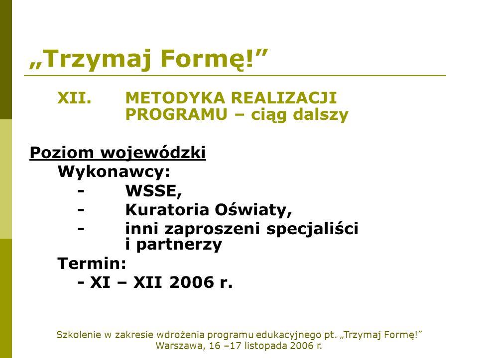 Szkolenie w zakresie wdrożenia programu edukacyjnego pt.