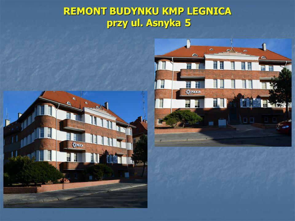 REMONT BUDYNKU KMP LEGNICA przy ul. Asnyka 5