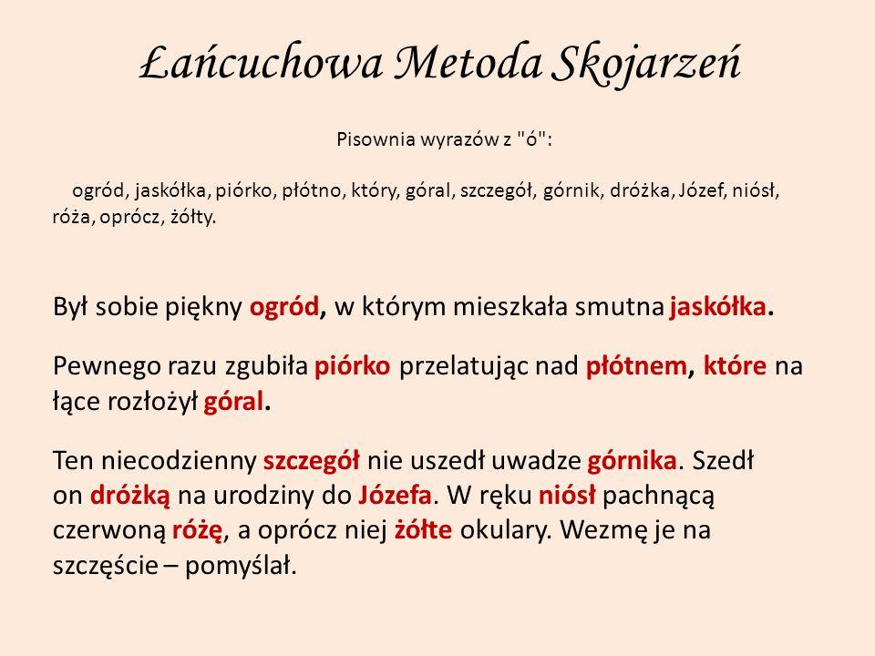 Łańcuchowa Metoda Skojarzeń Pisownia wyrazów z